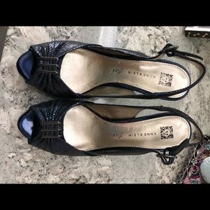 Anne Klein navy heels